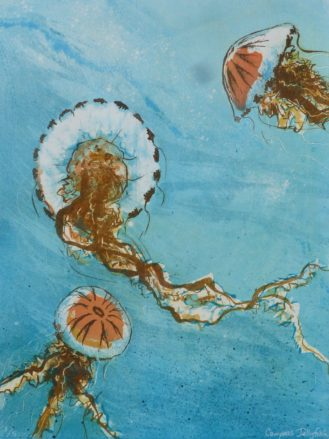 Detail of 'Jellyfish, Long Cove' by Louise Scammell